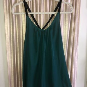 Charlotte Russe Silk Tank with Beaded Straps!